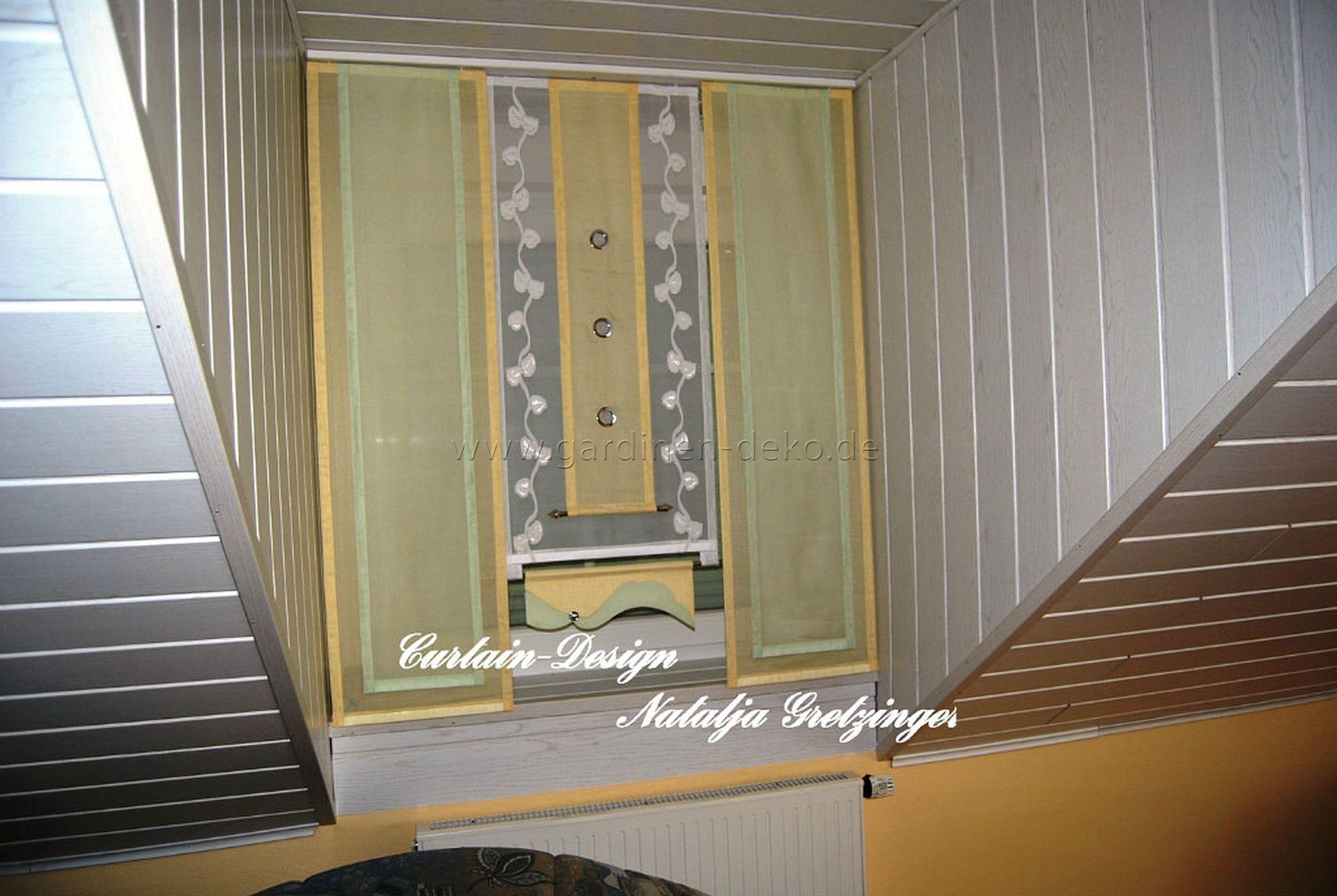 nice schlafzimmer gardinen deko #1: Grüne Stufen Gardine fürs Schlafzimmer - http://www.gardinen-deko.
