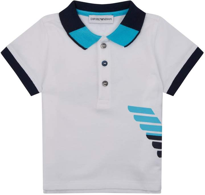 e5fff60a Emporio Armani Logo Print Polo Shirt Harrods, designer clothing, luxury  gifts and fashion accessories