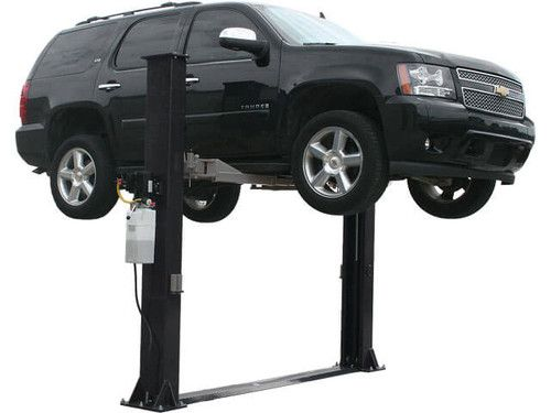The Elite 9kbp Is A Base Plate 9 000 Lbs Two Post Above Ground Lift Designed For Low Ceiling Garages The Total Colu Car Hoist Garage Car Lift 2 Post Car Lift