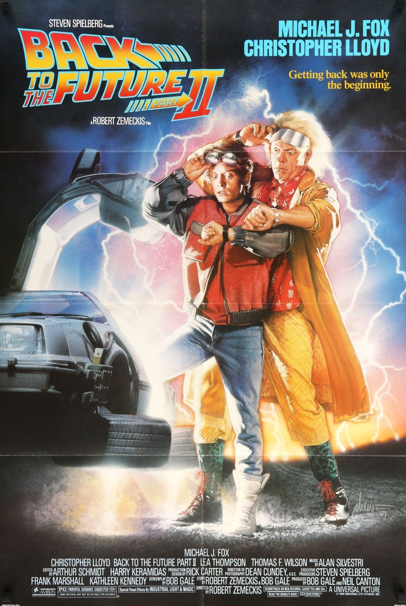 Back to the Future II (1989) Vintage One-Sheet Movie Poster - 27\