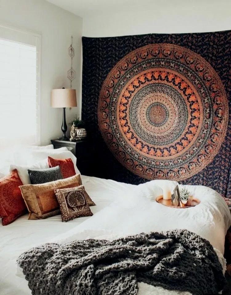 35 Comfy Elegance Chic Bohemian Bedroom Design Ideas 00026