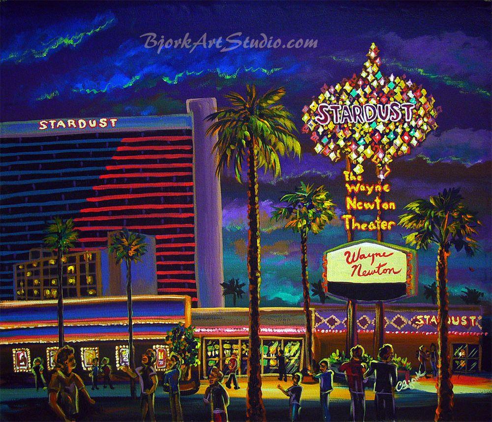Bjorkartstudio Las Vegas Print Art Vintage Frontier Stardust Hotel Casino Las Vegas Hotels Las Vegas Vegas