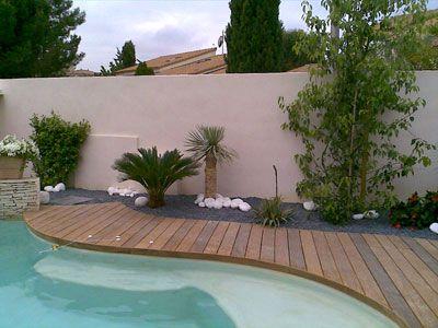 amenagement piscine quai bois Jardin Pinterest - photo d amenagement piscine