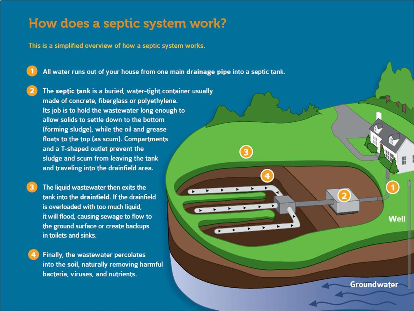 How A Septic System Works Septic Tank Systems Septic Tank