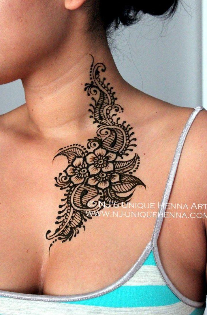 Tattoos Body Art Hot Tattoo Henna Tattoo Designs Henna Neck Back Henna