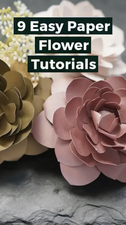 9 Easy Paper Flower Templates and Tutorials