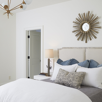 Neutral Clean Bedroom With White Walls Taupe Headboard Modern Custom How To Clean Bedroom Walls Decorating Design