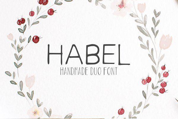 Download Habel Handmade Duo Font + Bonus Free in 2020 | Free font ...