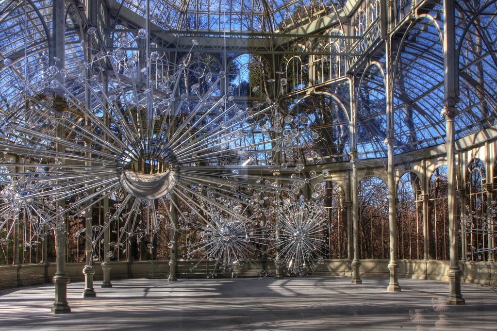 This Picture Was Taken Through The Glass Door Of The Crystal Palace In  Madrid. I Thought The Scene Was Amazing.