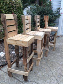 diy pallet high bar stools gartenh tte grillplatz und. Black Bedroom Furniture Sets. Home Design Ideas