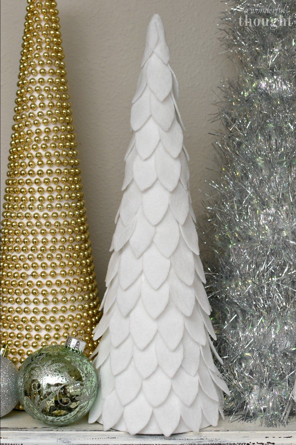 DIY Cone Christmas Trees - A Wonderful Thought
