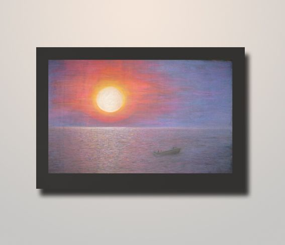 Sunset over the sea, 2013, landscape https://www.etsy.com/listing/181210737/landscape-sunset-over-the-sea-large-art?ref=shop_home_active_6