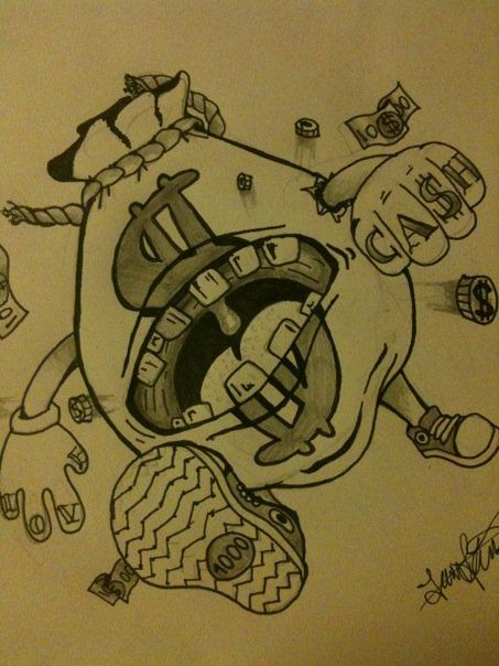 moneybag monster tattoo by carbun on deviantart posters
