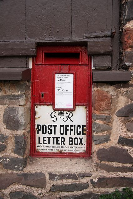 Allerford 10 04 11 0007 Lettering Antique Mailbox Royal Mail Post Office