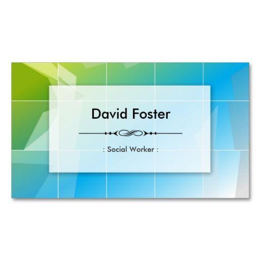 Social worker modern elegant simple business cards social worker social worker modern elegant simple business cards colourmoves