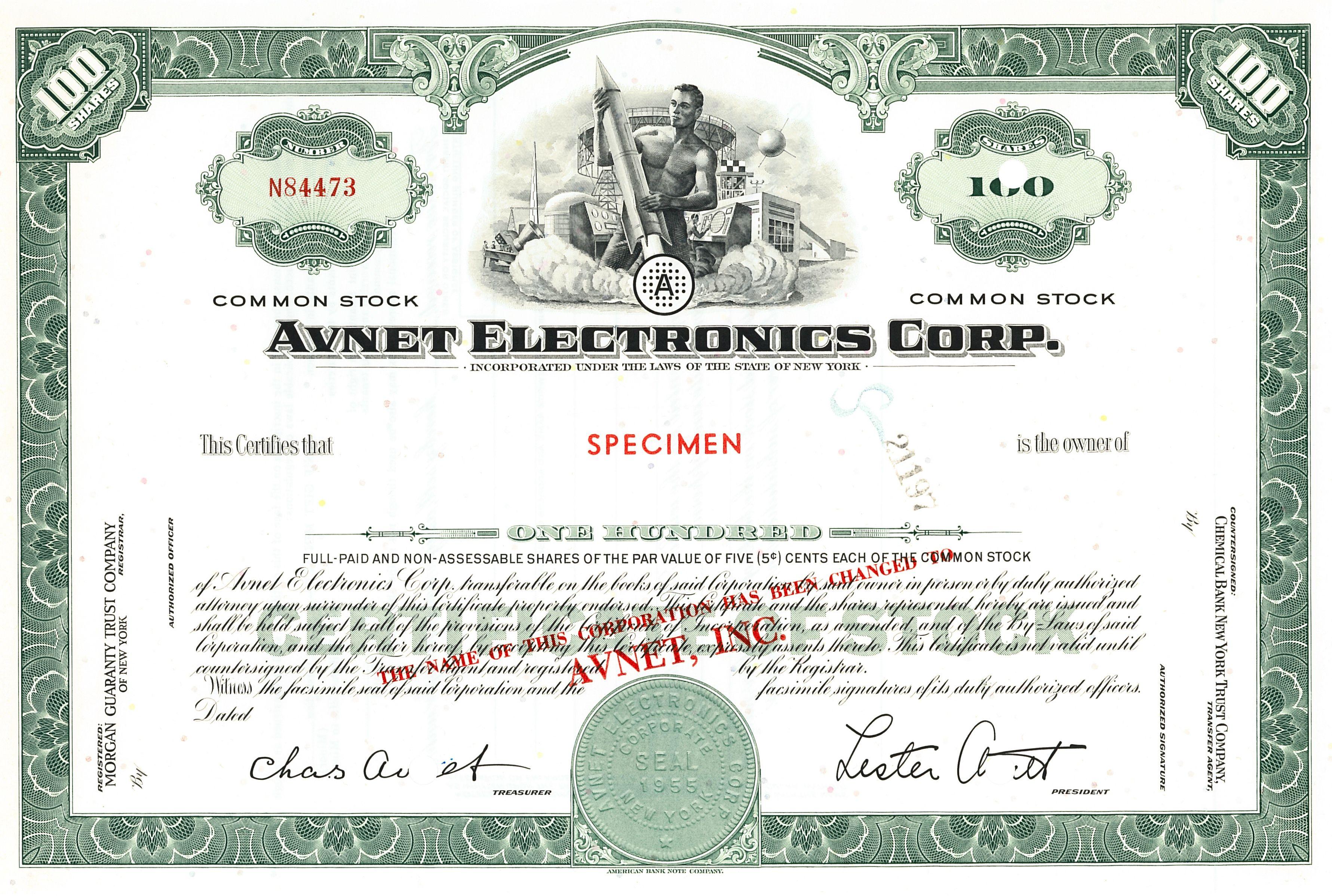 J M Smucker Company Stock Certificate   Original Stock