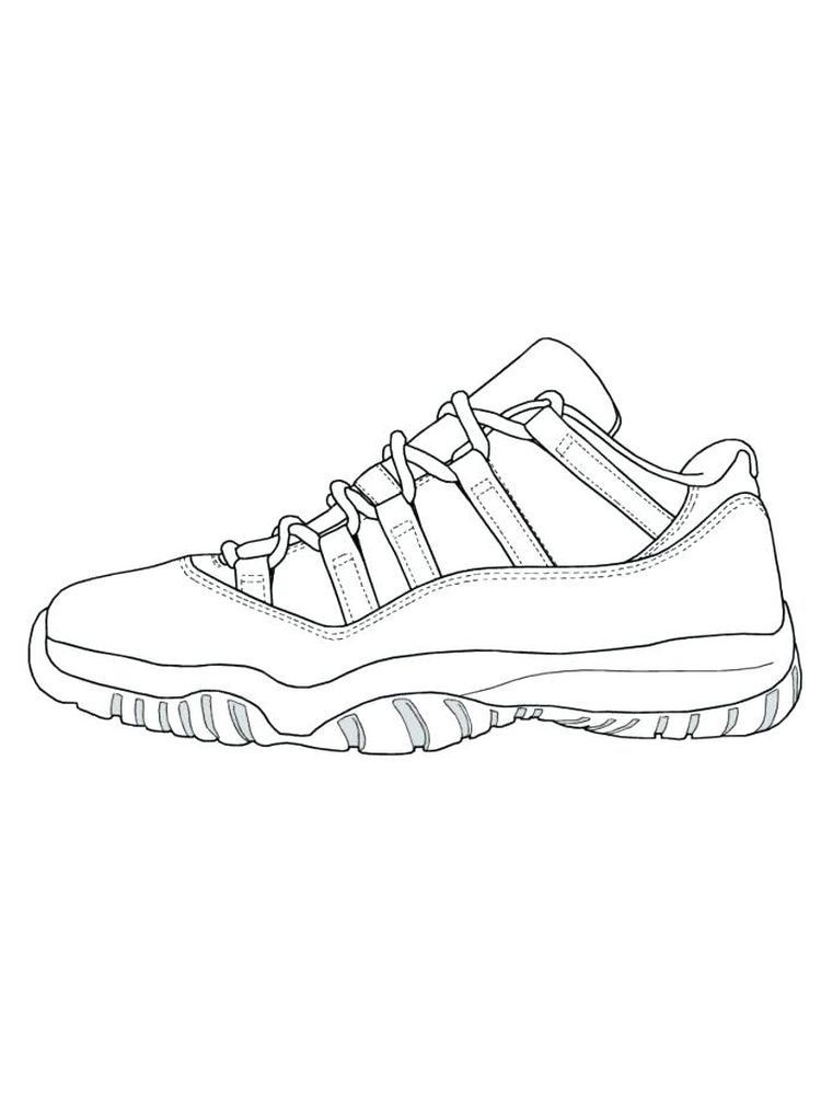 To Print Shoes Coloring Pages. The Following Is Our Collection Of Shoes  Coloring Page. You Are Free To Download And M… Shoe Print, Sneakers  Drawing, Shoes Drawing