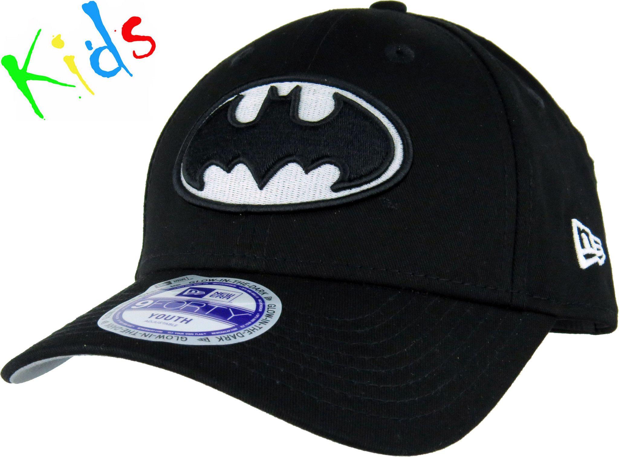 c515a798d48 New Era Kids 940 Glow In The Dark Batman Adjustable Cap - pumpheadgear