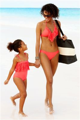 66e0dacf9c Love this matching fringe swimwear for mom and daughter! #mothersday ...