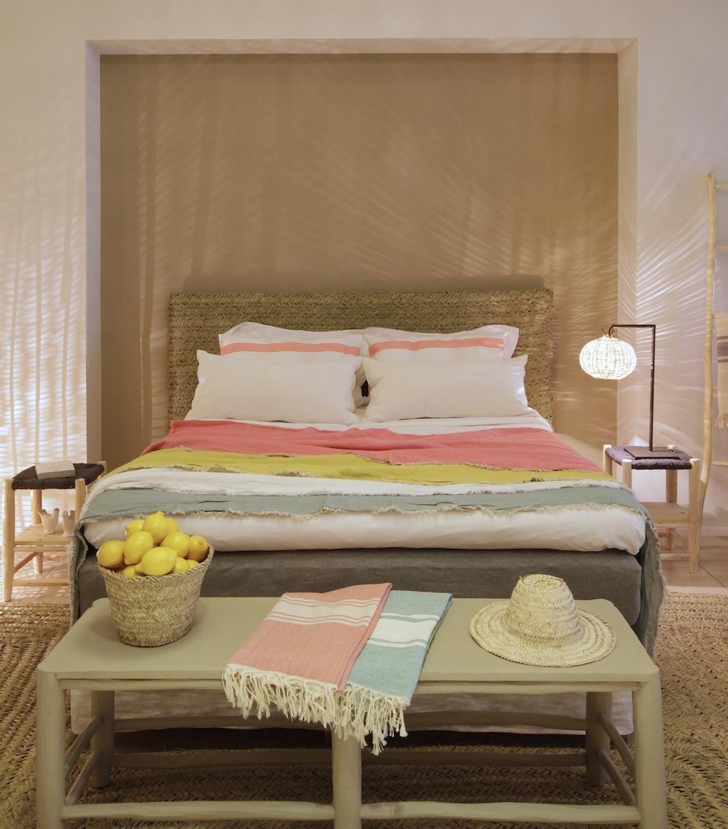 11 ideas originales de cabeceros hechos de esparto decorar tu dormitorio beautiful - Ideas de cabeceros ...