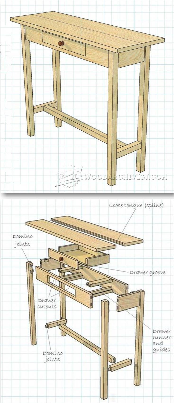Hall Table Plans Com Imagens Moveis Decoracao