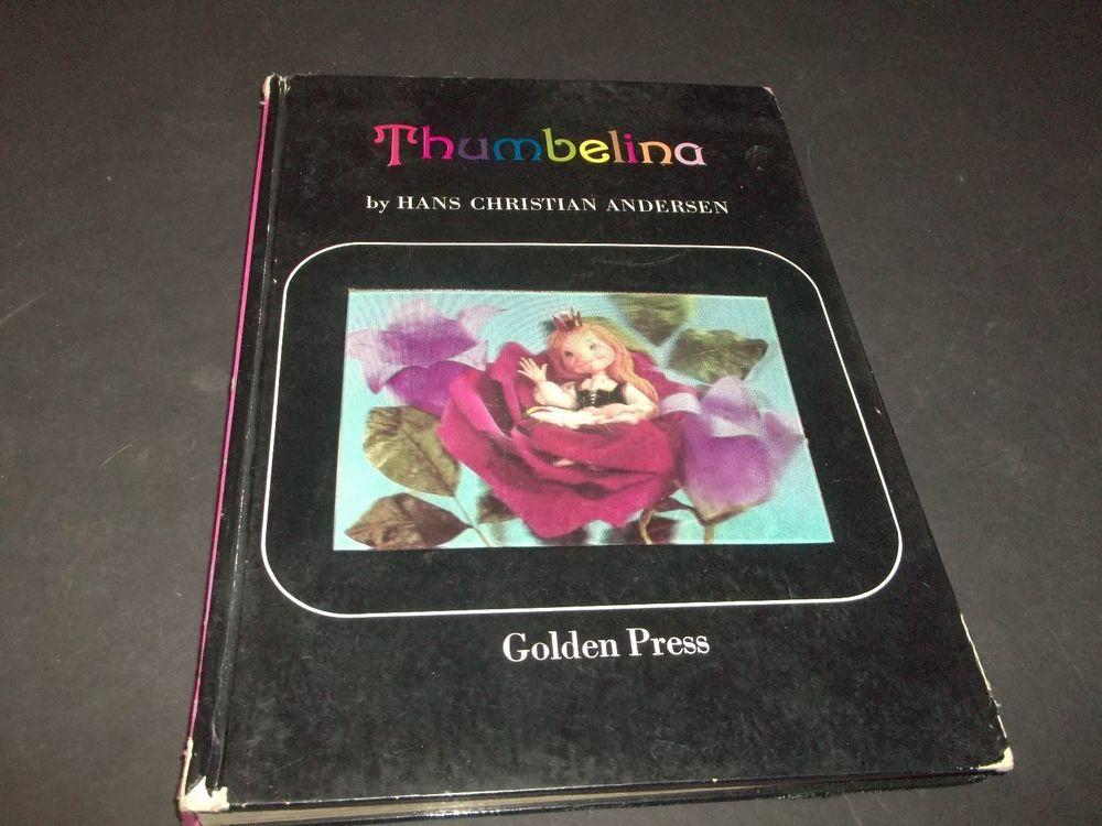 Vintage Thumbelina Hologram Board Book Hans Christian Andersen