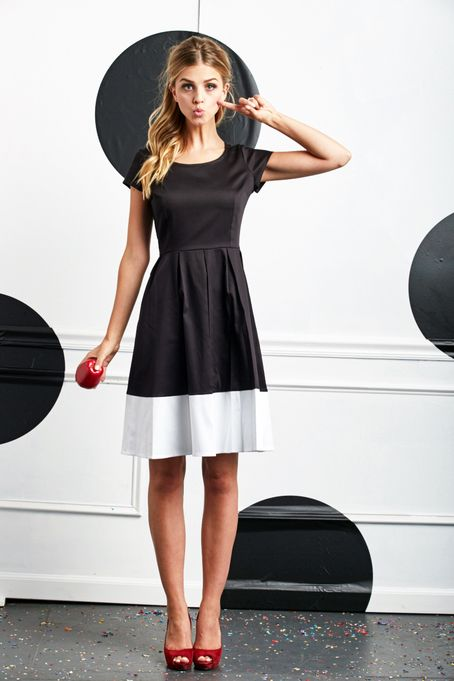 Share your Shabby! Inky Fit and Flare Dress B&W