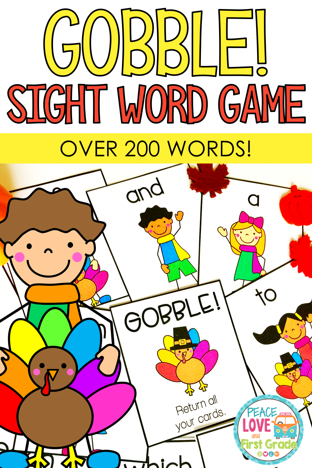 Thanksgiving Sight Word Game Sight word games, Word