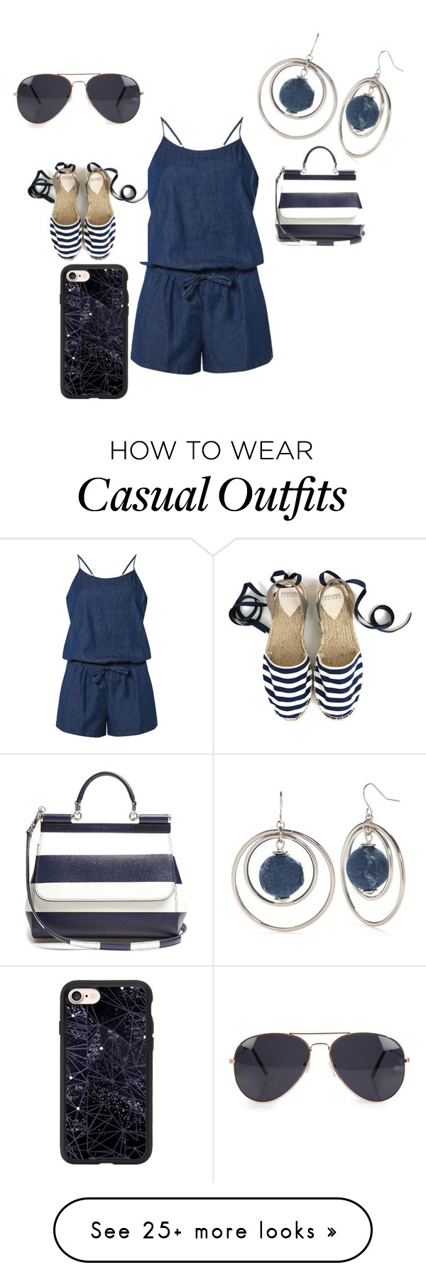 """casual"" by shayshayv on Polyvore featuring Dorothy Perkins, New Directions, Dolce&Gabbana, NLY Accessories and Casetify"