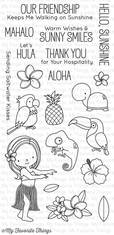 So cute new August release. Polynesian paradise stamp from