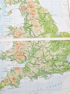 Vintage England and Wales Map, 1948 Map £10