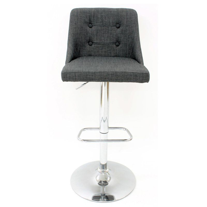Surprising Bushee Linen Adjustable Height Swivel Bar Stool Lapa Ideas Caraccident5 Cool Chair Designs And Ideas Caraccident5Info