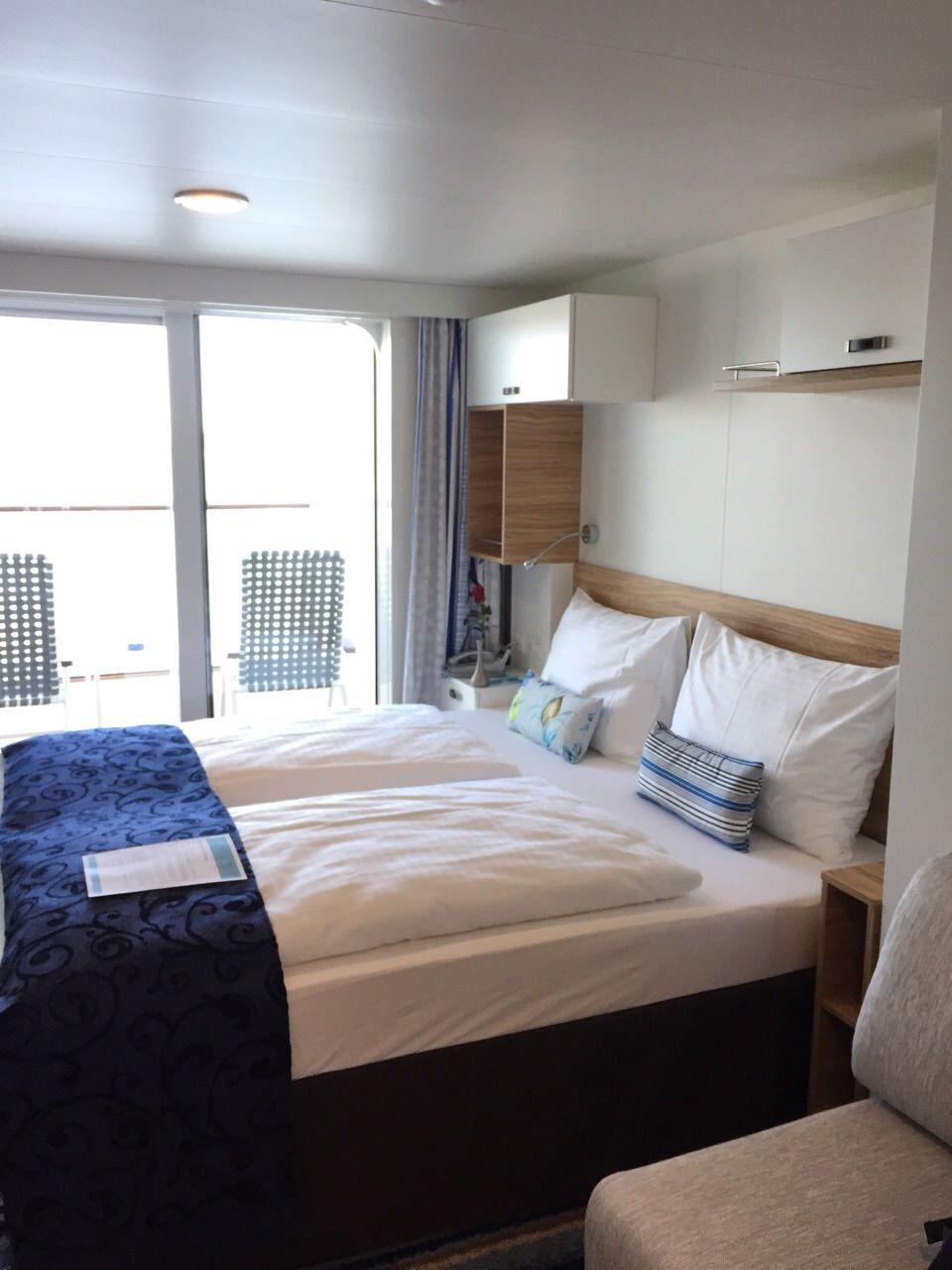 Die Balkonkabinen auf der Mein Schiff 4 bieten ca. 17 qm² Wohnfläche ...