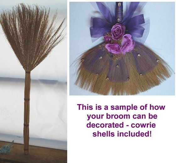 Undecorated African American Wedding Broom Decorate Your Own