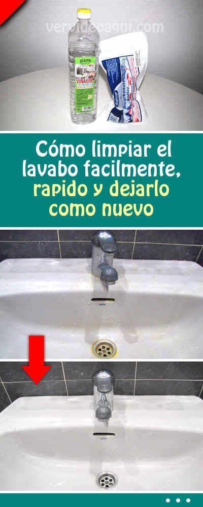 C mo limpiar el lavabo facilmente rapido y dejarlo como nuevo proyectos que debo intentar - Como limpiar rapido ...
