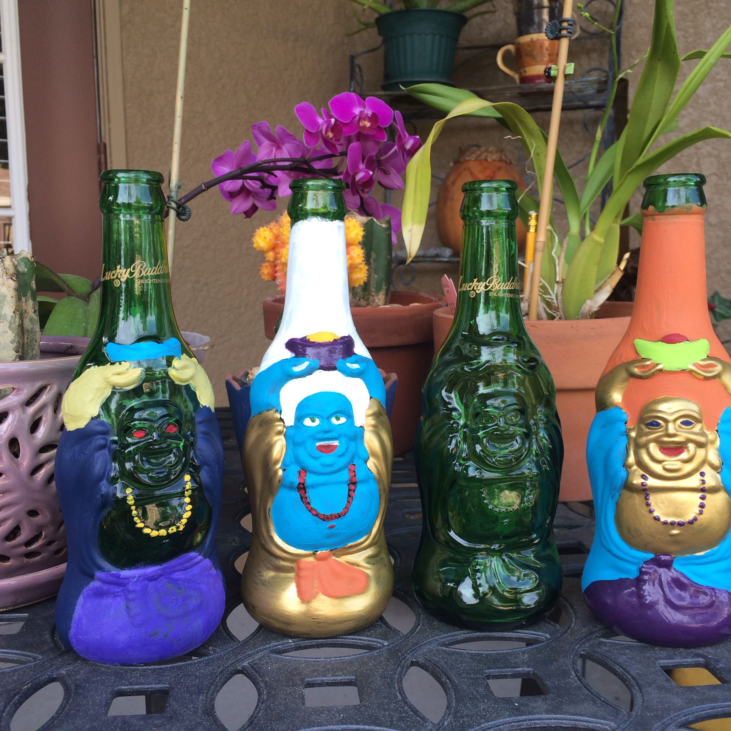 Lucky Buddha Beer Bottle Crafts