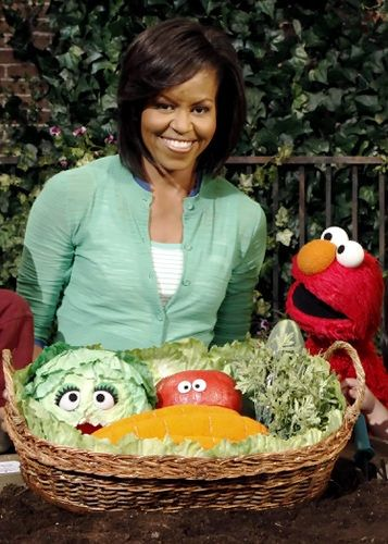 The first Lady and Elmo