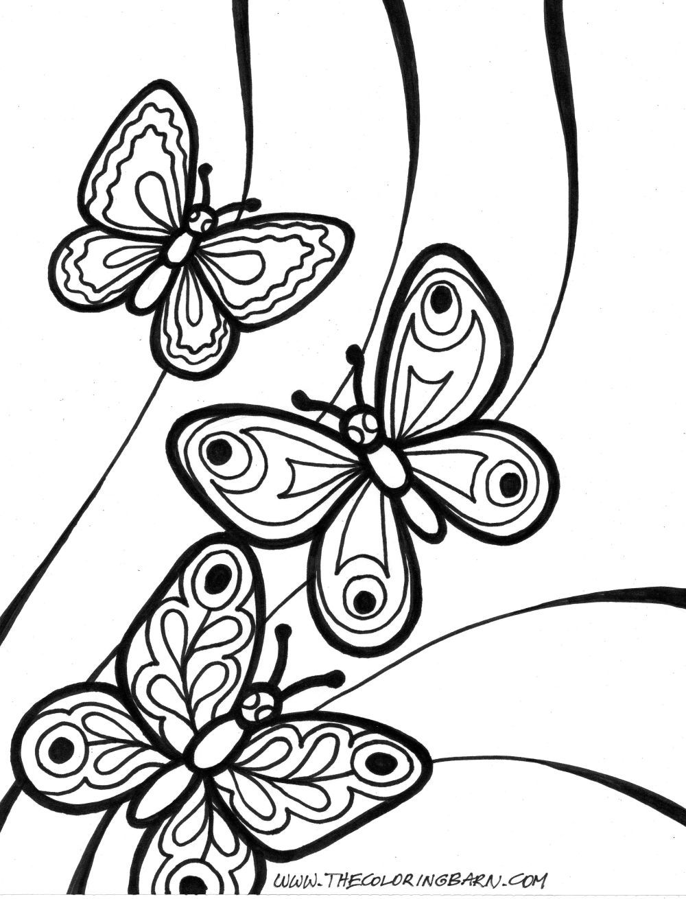 images of butterflies coloing pages | ... butterflies coloring page ...