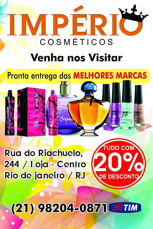 55ba9bf87 Panfleto de Divulgação para a empresa: Império Cosméticos - Rio de Janeiro  - Brasil