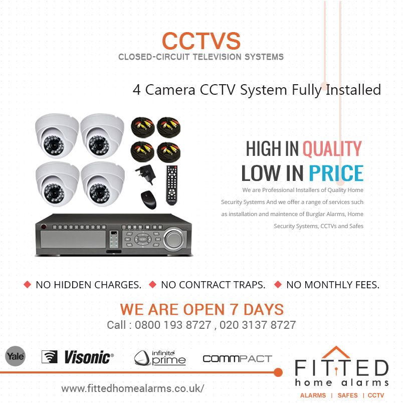 Our 4 Camera Cctv System Uses High Spec Cameras Good Quality Recording System With Easy Backup Options Addres Home Alarm Home Security Systems Ip Camera System