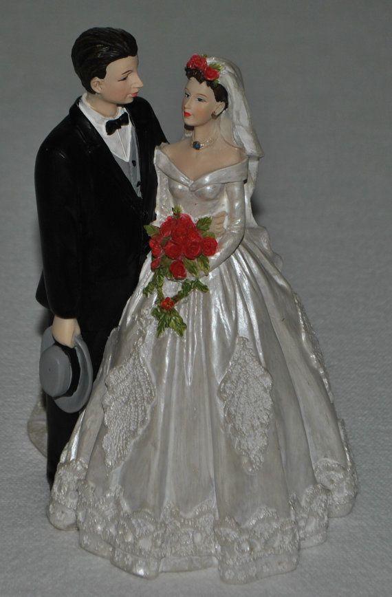 Vintage Traditional Bride And Groom Cake Topper By Vintagefinds61