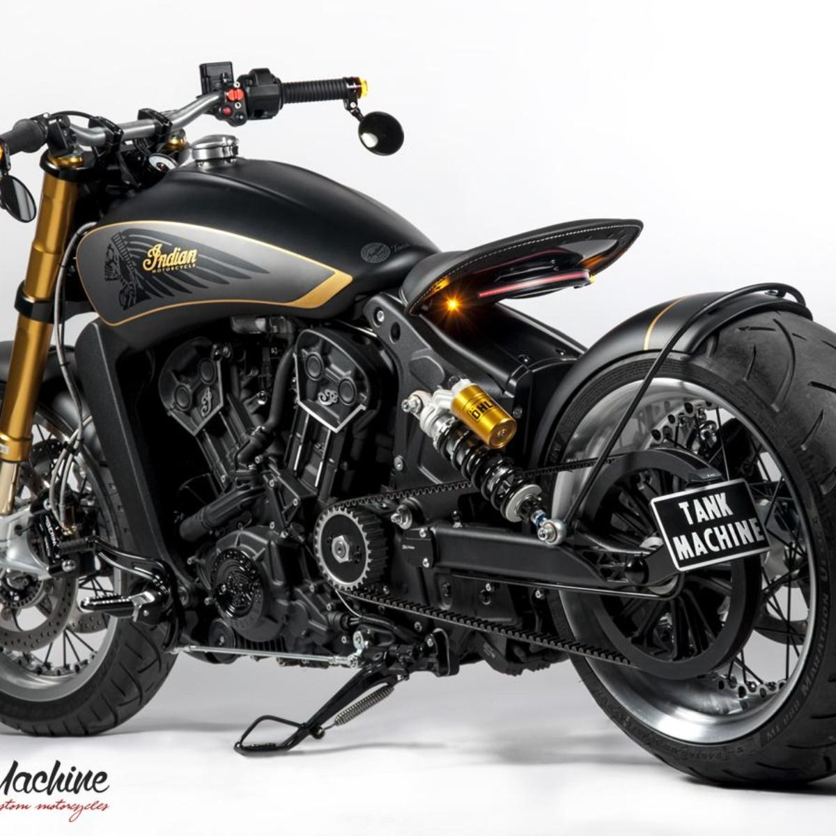 Indian Scout Bobber Exhaust Custom By Tank Machine In 2021 Indian Scout Bobber Scout [ 1200 x 1200 Pixel ]