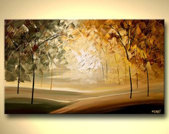 Landscape Painting - Original Contemporary Modern Art by Osnat.  As this is a MADE-TO-ORDER painting, it will be as close as possible to the one you see here, that I have already sold. Paintings name: The Gate  Size: 48x24 Medium: Acrylic on wrapped stretched canvas  The Gate is a landscape contemporary modern painting that will be painted on a staples free sides canvas. It is ready to hang.  As an artist who sells for more than 12 years, I strive for the best quality in both materials and…