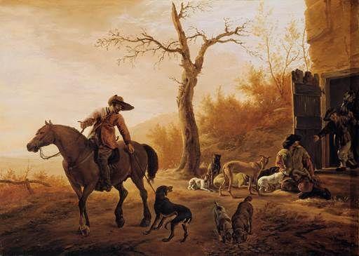 Pieter van Laer - Landschap met jagers
