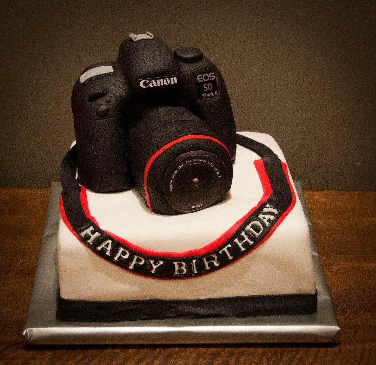 Fantastic Canon Cakes Burcinin Lezzet Butigi Canon Cake Pasta Fotograf Personalised Birthday Cards Veneteletsinfo