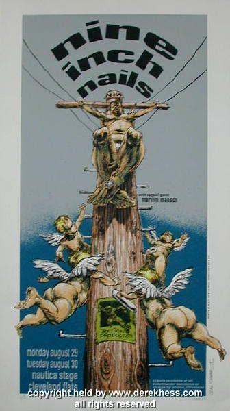 1994 Nine Inch Nails W Marilyn Manson 94 19 Poster Derek Hess Derek Hess Concert Posters Concert Poster Design