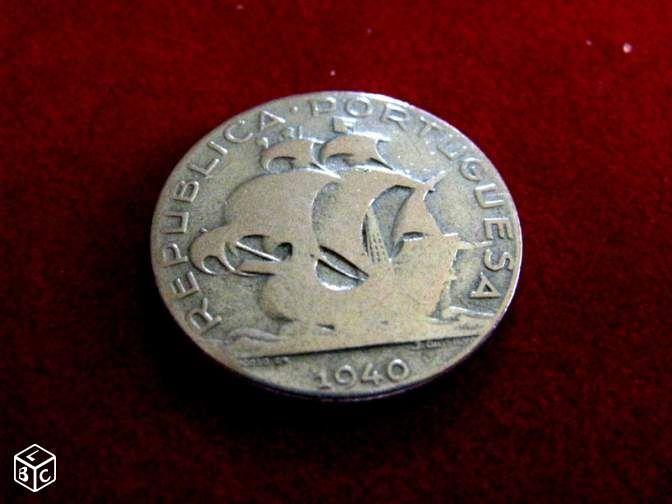 Monnaie Portugal 2 50 Escudos Argent 1940 Argent Monnaie