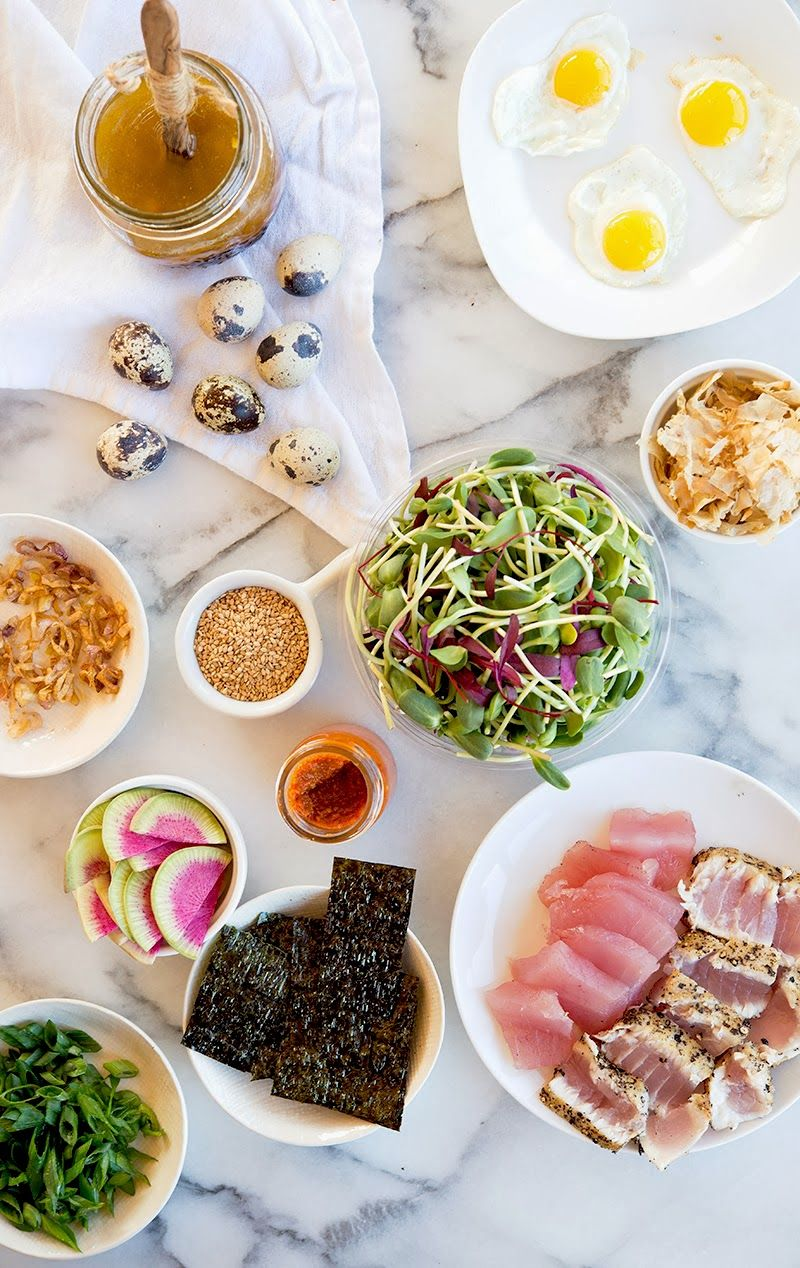 Deconstructed Sushi Roll; Use Cauliflower Rice instead of Quinoa