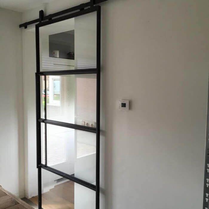 Vt wonen industriele stalen schuifdeur living pinterest deuren keuken en stalen deuren - Versieren haar badkamer ...