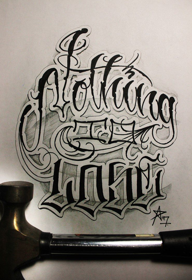tattoo letter fonts criminal lettering awesome 25024